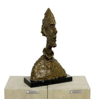 Art Bronze Sculpture Big Head Diego A Tribute to Giacometti