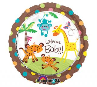 18Rainforest Animals Giraffe Baby Shower Party Balloon