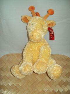Russ Baby Georgie Giraffe Plush Stuffed Rattle Tag 12