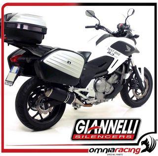 Giannelli Exhaust Black Line Muffler Honda NC 700 X / NC 700 S / DCT