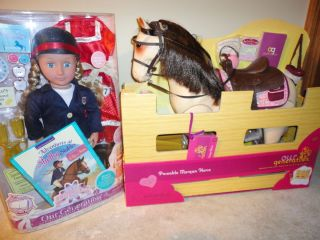 Just Like your American Girl 18 Doll Horse + Riding Stable Accessories