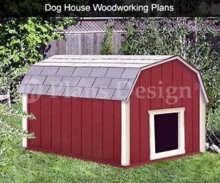 Dog House Plans Gambrel Barn Roof Style Design 90203B Pet Size Up to