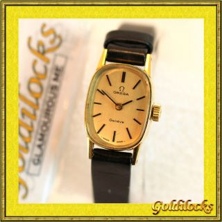Used Omega Geneve Ladies Manual Winding Watch GP 100 Auth 49
