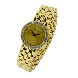 Geneve 14k Gold and Diamond Watch Ladies Jewelry Fashion