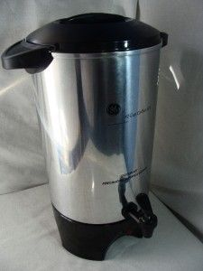 General Electric Large 12 42 Cup Percolator Coffee Pot Urn GE 106840