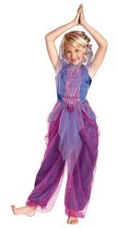 Garden Genie Girl Costume Child Kids Arabian Belly Dancer Veil Gypsy
