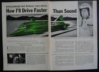 Art Arfons Green Monster 1965 Article Land Speed Record