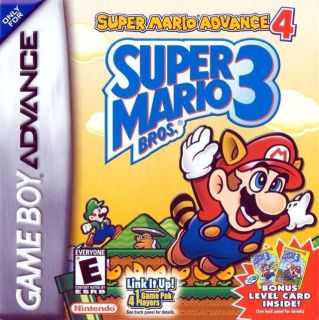 Nintendo game Super Mario Advance 4 Super Mario Bros 3 FOR GBA SP DS