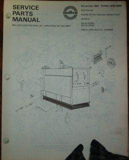 Miller Big 25 Big 40 Welder Generator Parts Schematics Catalog Manual