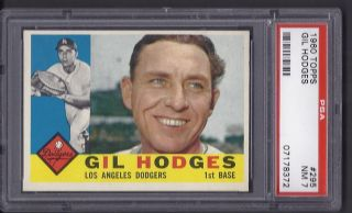 Gil Hodges Dodgers 1960 Topps Card 295 PSA 7