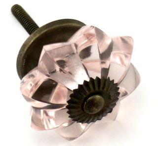 Pink Glass Cabinet Knobs Sm Melon Kitchen Drawer Pulls Furniture