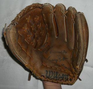 George Bre Wilson Model A2144 Baseball Glove RH