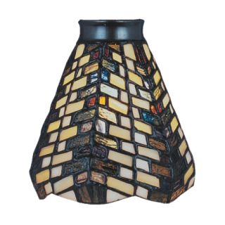 Geometric Tiffany Style Stained Glass Ceiling Fan Shade