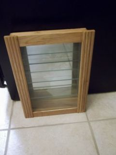 Nice Wood and Glass Wall Display Cabinet with Shelves