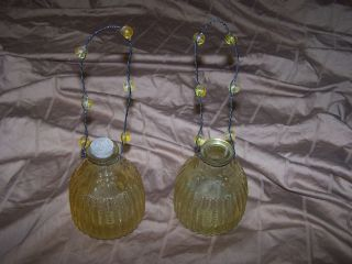 VINTAGE HANGING GLASS FLY WASP BEE FRUIT FLY CATCHER INSECT TRAP