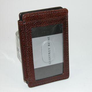 Geoffrey Beene Mens Genuine Leather Pocket Card Holder