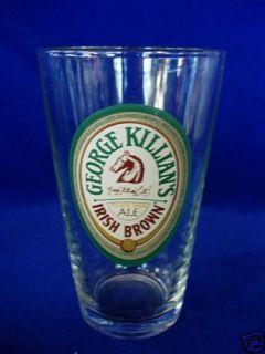 Collectible George Killians Irish Brown Ale Beer Glass Tumbler Bend