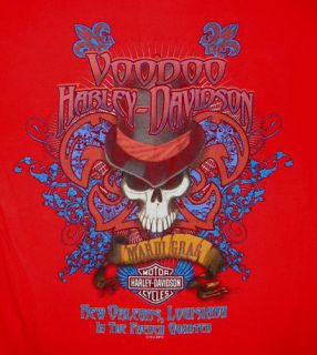 Harley Davidson Voodoo T Shirt Biker Motorcycle New Orleans French