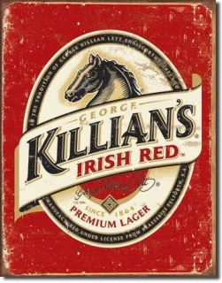 Killians Killians Irish Red Beer Lager Metal Tin Sign