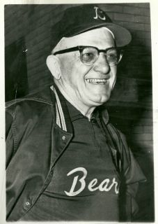 coach george halas wearing the same style jacket in 1964