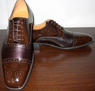New Arrival Giorgio Venturi Chocolate Brown Mens Dress Shoe Shoes