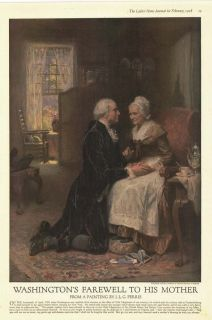 print Washington Farewell to his mother  J. L. G. Ferris art