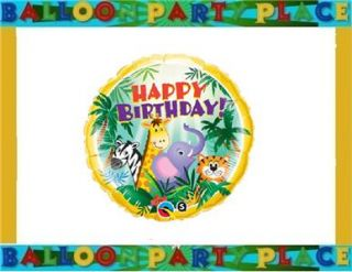 SAFARI animal ELEPHANT giraffe birthday party supplies balloon 1st 2nd
