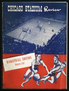 1944 NCAA George Mikan Otto Graham Basketball Program