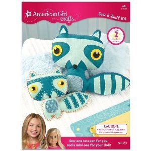 Girl Crafts Sew Stuff Kit Raccoon New Scrapbooking Kits Craft Crafts