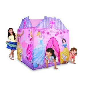 Kids Fun Disney Princess Super Play House Tent Lights Girls Playhuts