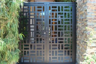 METAL GATE ON SALE DECORATIVE ORNAMENTAL CUSTOM IRON GARDEN ENTRY