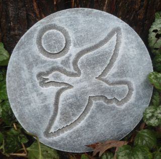 Plastic Duck Plaque Mold Garden Plaque Stepping Stone
