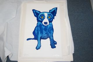 FTI George Rodrigue Blue Dog City Slicker RARE Print 1998 Artist