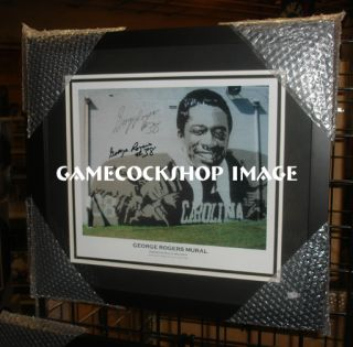 USC Gamecocks Heisman Trophy George Rogers Signed Mural Pic Gamecock