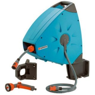 Gardena 2656 Wall Mount Swivel Automatic Retractable Garden Hose Reel