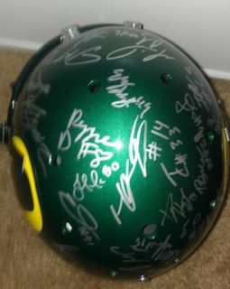 2012 Oregon Ducks Team Signed Football Helmet Certificate Proof Kenjon