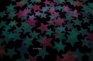 120 Piece Radiant Rainbow Glow in The Dark Stars