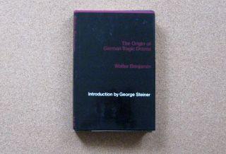Book Origin of German Tragic Drama by Walter Benjamin
