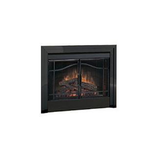 Dimplex Single Pane Bi Fold Look, Glass Door Kit   Bfdoor33blksm
