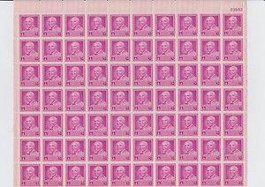 Vintage Dr George Washington Carver 3 Cent USA Stamps Postages Sheet