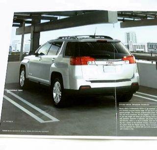 2010 10 GMC Terrain Truck SUV Sales Brochure Sle SLT