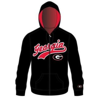 Georgia Bulldogs UGA Mens Zip Up Hooded Jacket Sweatshirt