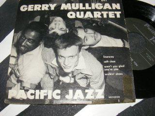 Gerry Mulligan Quartet Pacific Jazz 7 inch EP w Chet Baker Fun Cover