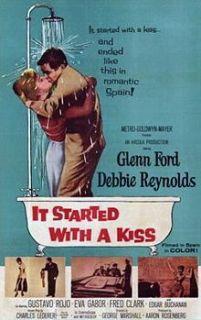 WITH A KISS (MGM/UA Home Video) Glenn Ford / Debbie Reynolds vhs BOTW