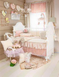 Glenna Jean Love Letters 8 PC Crib Baby Bedding Set New