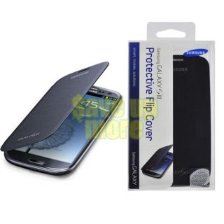 Genuine Samsung Galaxy s III S3 Flip Cover Pouch Case Pebble Blue