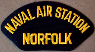 US Navy Cap Patch Naval Air Station Norfolk