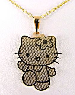 Girl Teens Gold 18K GF Hello Kitty Pendant Necklace Charm Chain Sale