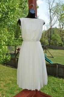 Giambattista Valli Silk Ivroy Pleated Dress 42 $3995