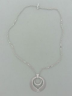 Charriol 18K White Gold Diamond Pendant Necklace $3495